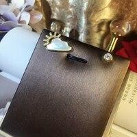 New Sunrise Weather Stud Earring Pure 925 Sterling Silver Ear Needle Women Personality Female Earring Fine Jewelry Wholesale Hot
