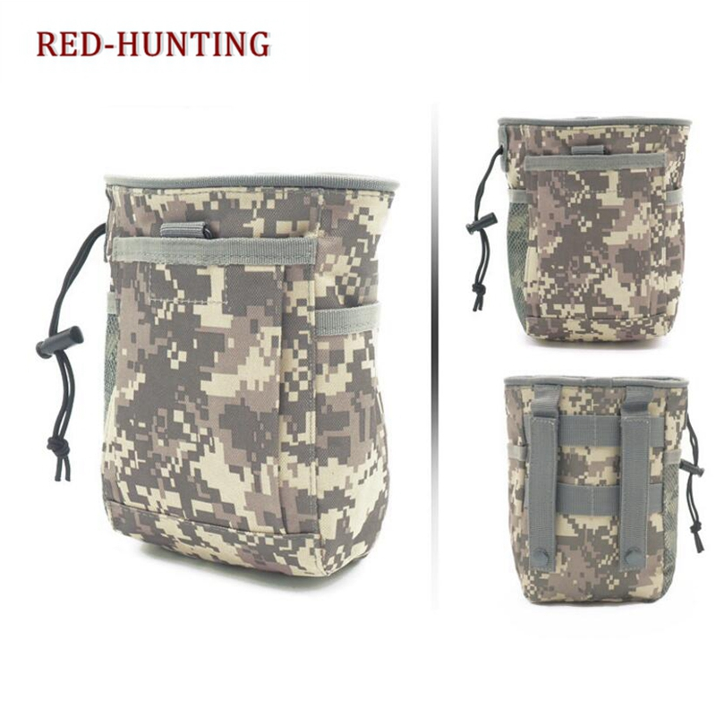 e5562fbba5cf Tactical Molle Drawstring Magazine Dump Pouch Military Adjustable Belt  Utility fanny hip holster Bag Outdoor Ammo Pouch-in Pouches from Sports &  ...