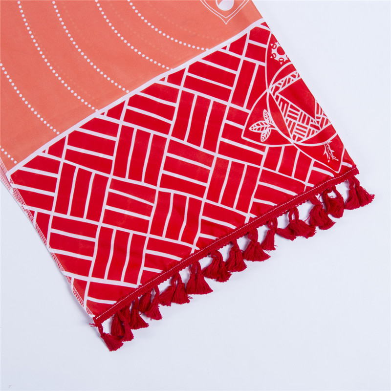 Dropship! Single Rainbow Chakra Tapestry Towel Carpet Mandala Boho Stripes Travel Yoga Mat Outdoor Mats 150x70cm/100x45cm 4