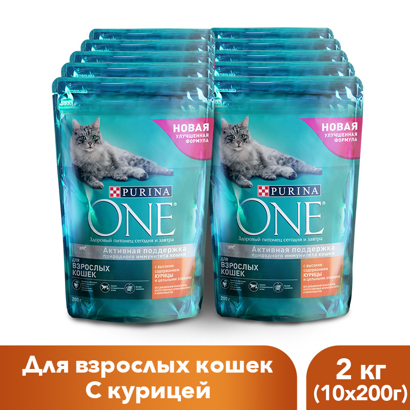 Dry feed Purina ONE for adult cats with chicken and whole grains, package, 2 kg. rc drone h6 2 4g entry level uav fpv hd camera wifi one key take off return 3d headless mode app control live feed transmission