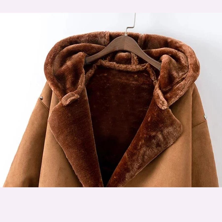 31cab50e5c Aliexpress.com : Buy Western Fashion New Winter 2018 Women's Casual Long  Coat Leather Plus Velvet Outwear Female Rivet Hooded Cotton Overcoat Jacket  ...