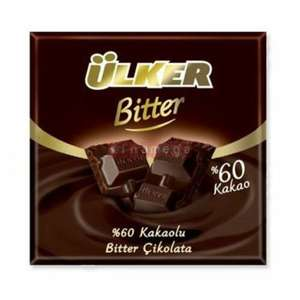 "ULKER Milk Chocolate Bitter %60 "" 6 x 2.47 oz 420 gr from TURKEY"