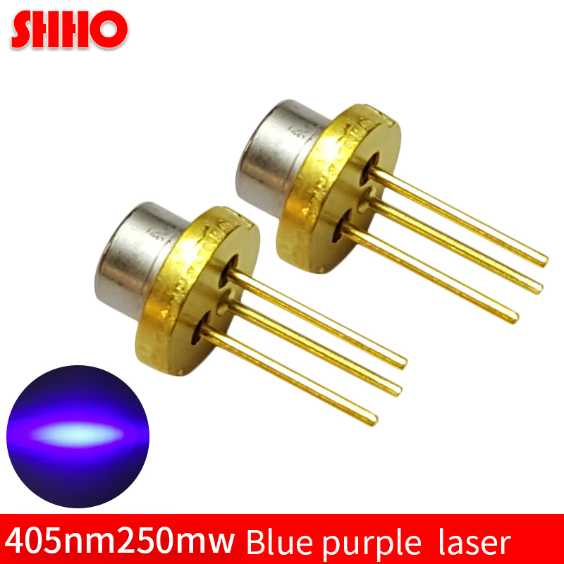 High power laser semiconductor TO3.8/diameter 3.8mm 405nm 250mw blue purple laser diode medical devices accessories laser head 16 50mm 9 0mm laser diode housing w 405nm glass lens