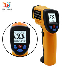 Buy LCD Display Digital Infrared Thermometer Professional Non-contact Temperature Tester IR Temperature Laser Gun GM320