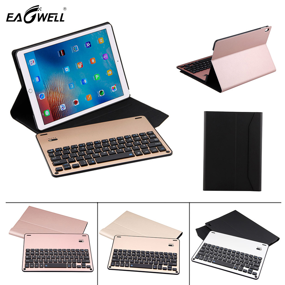 Eagwell 2 in 1 Removable Aluminum alloy Bluetooth Keyboard PU Leather Case For iPad Pro 10.5 A1701 A1709 Keyboard CaseEagwell 2 in 1 Removable Aluminum alloy Bluetooth Keyboard PU Leather Case For iPad Pro 10.5 A1701 A1709 Keyboard Case