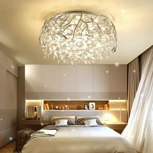 Image 2 - LED מודרני גביש תקרת אורות נורדי סלון גופי חידוש חדר שינה תקרת מנורות ברזל זכוכית תקרת תאורה
