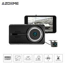 Azdome NTK96658 Y900 Dual Coche de la Lente DVR Dash Cam Video Recorder 4.0 pulgadas IPS Full HD 1080 P 30fps H.264 g-sensor de Dos Cámaras H30