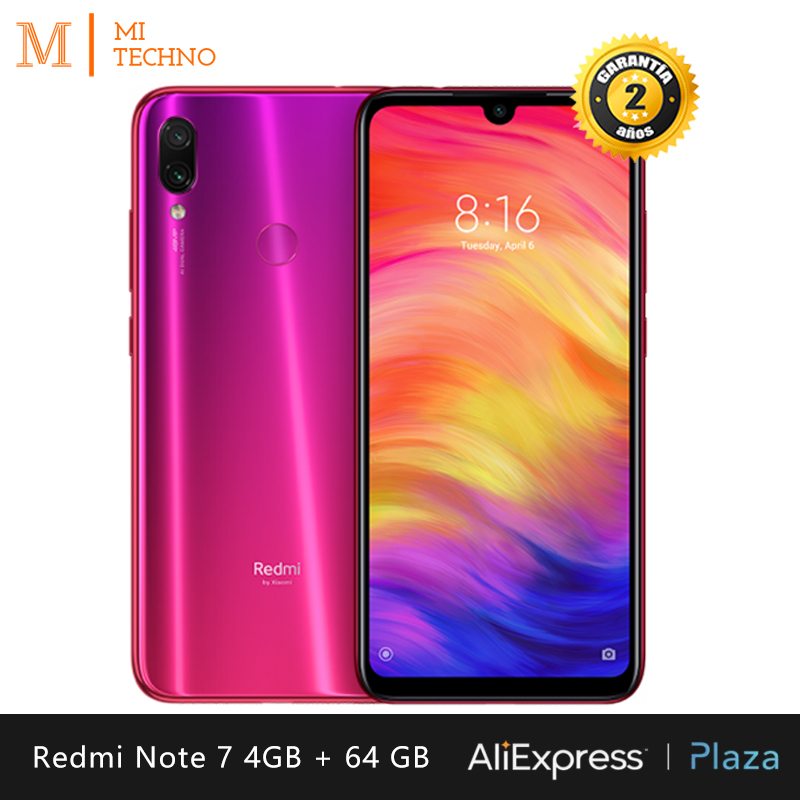 [Global Version] Xiaomi Redmi Note 7 smartphone HD + 6,3(RAM 4GB + ROM 64GB, battery 4000 mAh, Camera 48MP's)