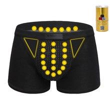 3 color Men's underwear Underpants Physiotherapy Health Magnet Underwear cotton Magnetic Underwear Boxer Shorts