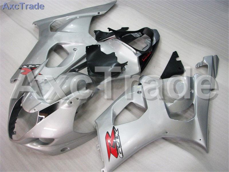 Мотоцикл Обтекатели для Suzuki GSXR системы GSX-Р 1000 К3 GSXR1000 2003 2004 03 04 ABS пластичная впрыска Обтекателя кузова комплект серебро