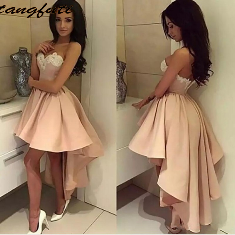 Hot Sale Sexy Satin Cocktail Dresses Party Graduation Homecoming