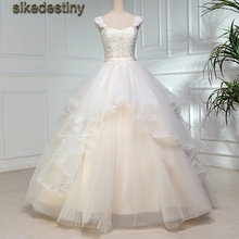 sikedestiny Ivory Fluffy Ball Gowns Wedding Dresses 2018