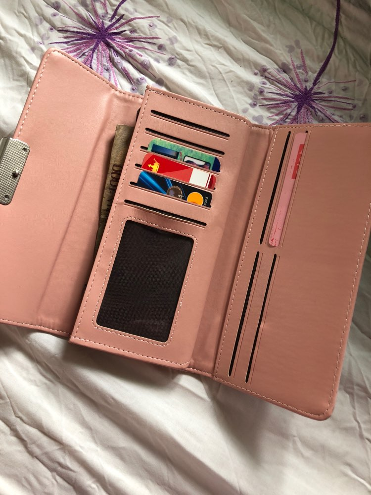 Women's Purse Women Wallet Long Passport Bag Fashion Female Coin Clutch Card Holder Luxury Designer Simple Wallets Female Purse photo review