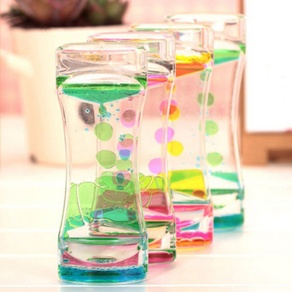 Best Floating Color Mix Liquid Oil Timer Dropper Motion Visual Desktop Toys