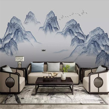 New Ink Artistry Landscape Water Wall Professional Production Mural Factory Wholesale Wallpaper Poster Photo