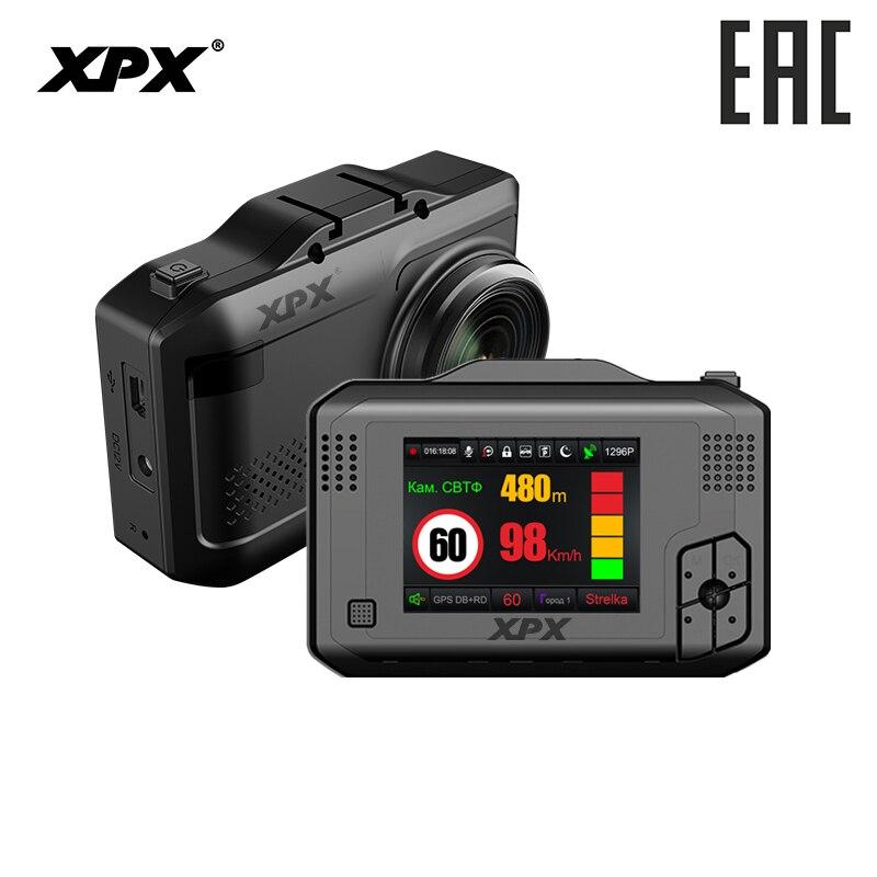 XPX G575-STR voiture dvr tableau de bord caméra dvr 3 en 1 Radar détecteur GPS Ambarella A12 SFull HD 1296P Signature signal caméra de bord caméra de voiture