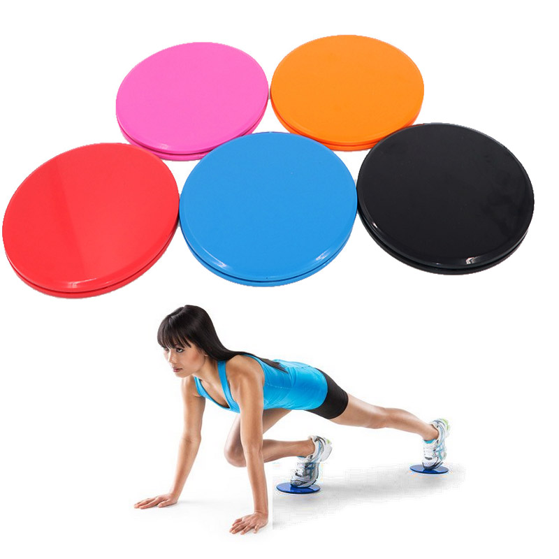 2PCS Exercise Sliders One Pair Of Red Gliding Discs Core Sliders Dual Sides Workout Fitness Equipment  Balance Board