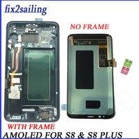 Super Amoled ЖК дисплей для samsung galaxy s8 Замена ЖК экран планшета S8plus жидкокристаллический дисплей G950F G955 G955F G950FD