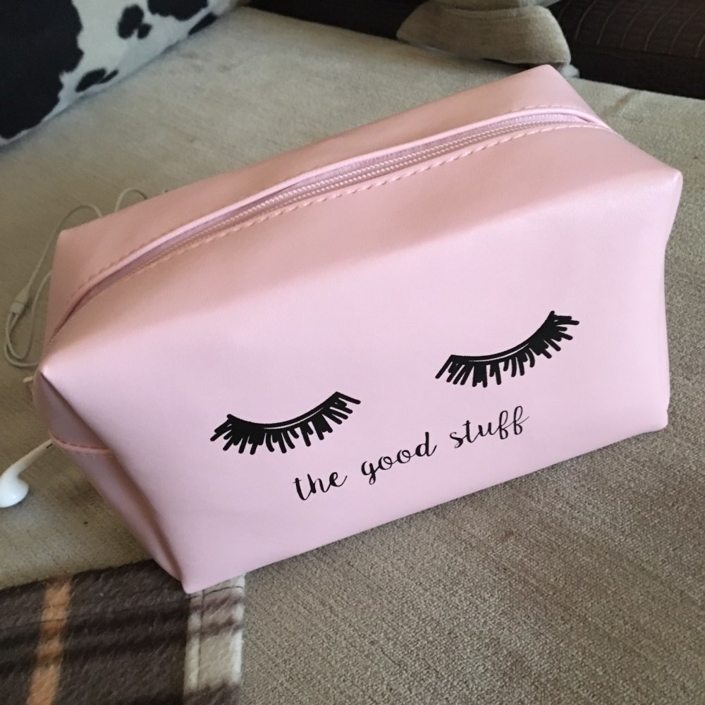 Pink Handbag kawaii Eyelashes Cosmetic Bag PU Makeup Pouch Beauty Case Vanity Make Up Bag For Women Travel Organizer Kit etui photo review