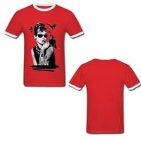 Harajuku Audrey Hepburn Usa Size Unisex Shirt High Quality 100 Cotton Brand Clothing Hip Hop Tee