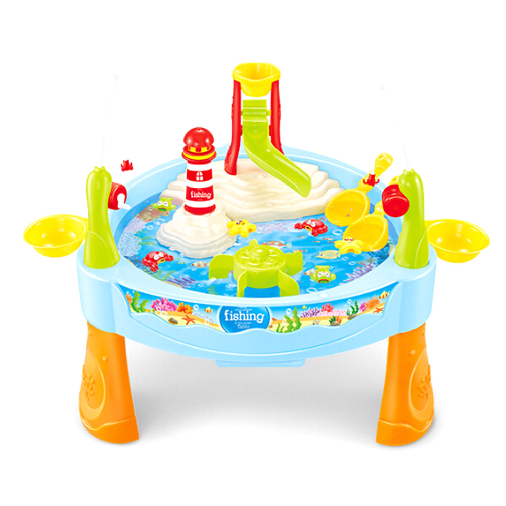 Children Boy Girl Fishing Toy Pool Set Suit Magnetic Play Water Baby Toys Fish Square Hot Gift For Kids