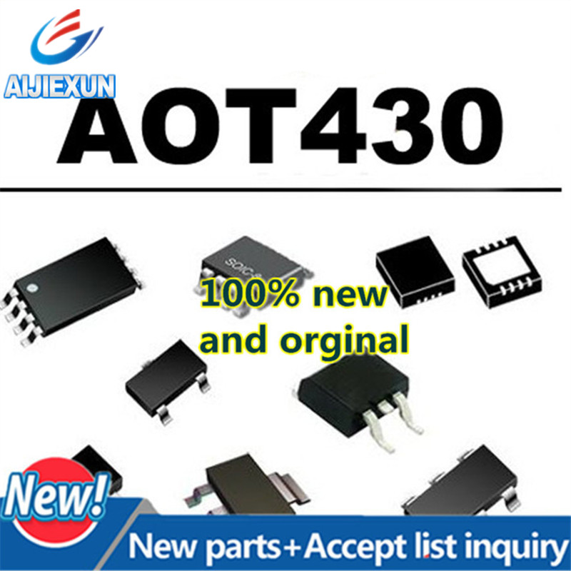 5Pcs 100% New and original AOT430 T430 TO220 80A75V MOS N-Channel Enhancement Mode Field Effect Transistor in stock