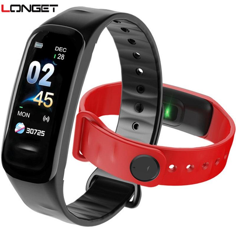 LONGET Bluetooth di Sport Intelligente Braccialetto Delle Donne Degli Uomini Dei Bambini Smart Orologio Da Polso Impermeabile Orologio Frequenza Cardiaca Pressione Sanguigna fitnessTracker