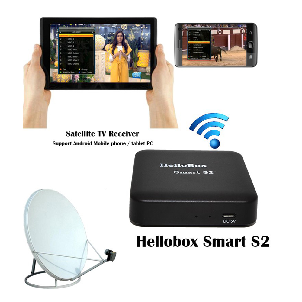 Hellobox Smart S2 Satellite Finder Satellite Receiver TV Play On Mobile Phone/Tablet TV Turner Receiver DVBPlayer DVBFINDER IOS