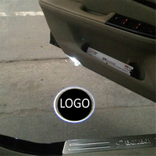 цена на JingXiangFeng 2 pcs Case For GMC For Renault Car Door Welcome Light Car LED Laser Logo Ghost Shadow Light Warning lights