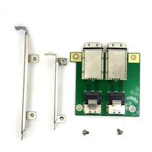 Mini sas para interno SFF 8087 36p a 2 portas externo hd sas26p SFF 8088 painel frontal placa de adaptador de cartão pci sas