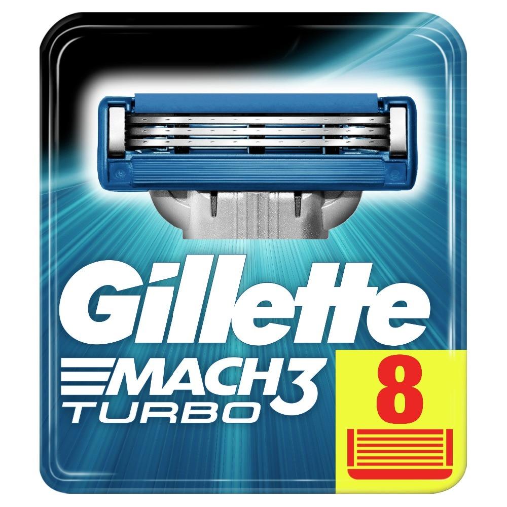Replaceable Razor Blades for Men Gillette Mach 3 Turbo Blade shaving 8 pcs Cassettes Shaving  mak3 shaving cartridge mach3 turbo repair kit k03 turbo cartridge core for audi vw seat skoda 1 8 t turbocharger chra 53039880045 53039880049 06a145703q