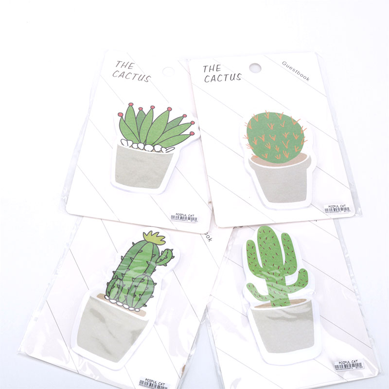 36 pcs/lot Kawaii Cactus Memo Pad Sticky Notes Cute Post it Korean Stationery Gift Note Paper Office School Supplies