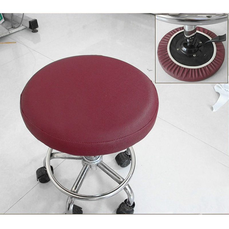 Stool Cover Faux Leather Round Chair Cover Dental Chair Cover Elastic Seat  Slipcover Dining Chair Slipcover Solid Color In Chair Cover From Home U0026  Garden On ...