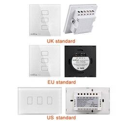 TC2 wielkiej brytanii ue usa przełącznik 1Gang 2Gang 3Gang przełącznik dotykowy automatyki inteligentnego domu bezprzewodowy Wifi sterowania włącznik światła przełącznik ścienny RF433