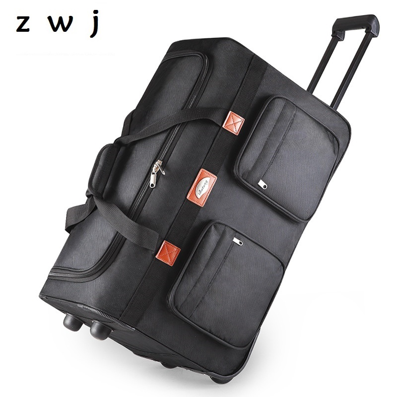 25 32 inch High-capacity Women and Men large canvas Travel Bag Trunk Trolley case suitcase Rolling luggage 25 32 inch High-capacity Women and Men large canvas Travel Bag Trunk Trolley case suitcase Rolling luggage