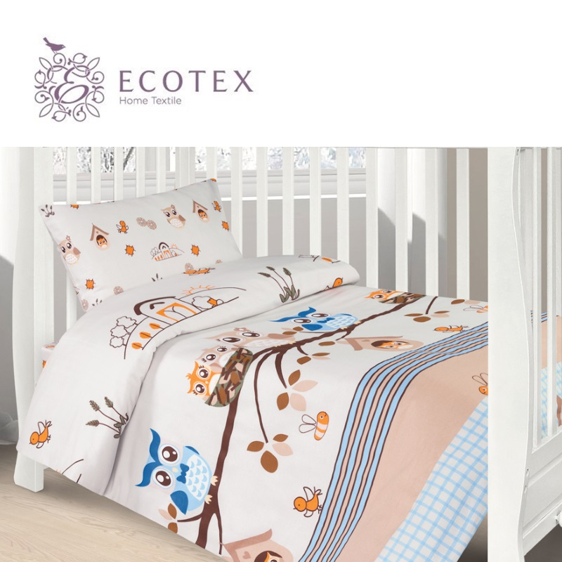 Фото - Baby bedding Owls,100% Cotton. Beautiful, Bedding Set from Russia, excellent quality. Produced by the company Ecotex flower print bedding set