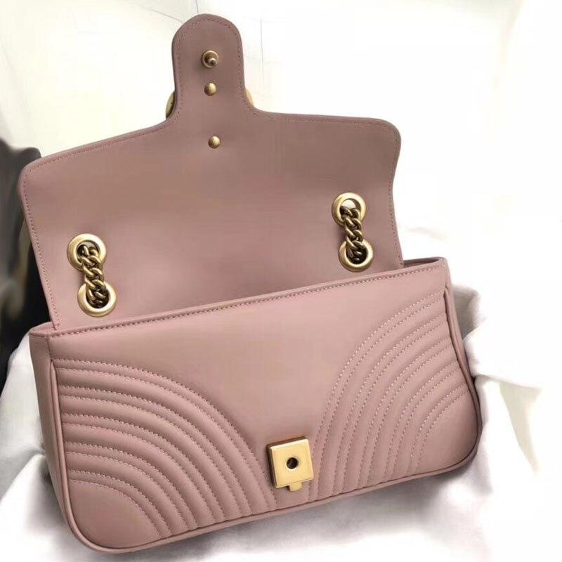 Mulheres de luxo bolsa de couro real