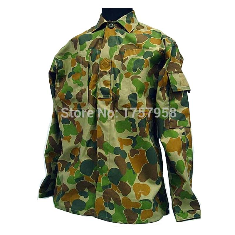 US Army Australian Woodland Camo ACU Style Uniform Set Tactical Combat Uniform Set For Tactical Gear