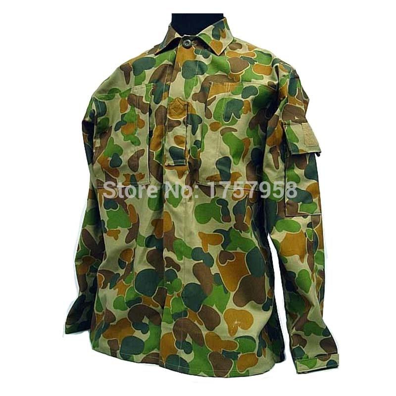 US Army Australian Woodland Camo ACU Style Uniform Set Tactical Combat Uniform Set For Tactical Gear