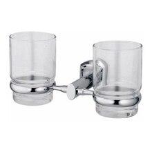Держатель стакана двойной WasserKRAFT Oder K-3028D (Материал: Стекло/Металл, никель-хромовое покрытие, цвет: хром)