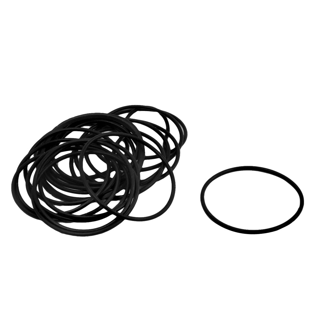 Uxcell 20 Pcs/lot 1mm Thickness Industrial Rubber O Rings Seals Id 24mm 25mm 26mm 27mm 28mm 30mm