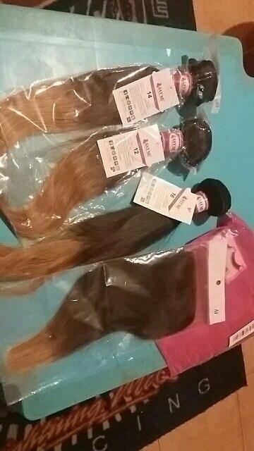 3 Комплект s Ombre бразильский Прямые человеческих волос Комплект с закрытием Weave 1b/4/27 4x4 бесплатная часть Реми блондинка закрытия шнурка говорят мне