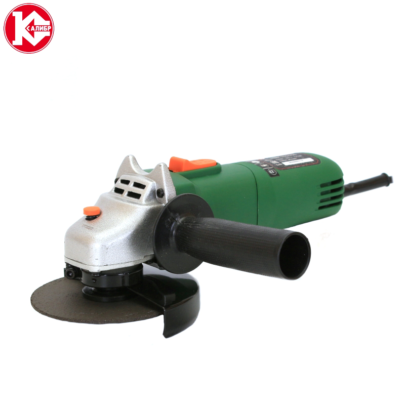Electric tool Angle grinder Kalibr MSHU-115/755, disc 115mm, power 755W, angular power tool for grinding and cutting metall battery dynamoelectric electric power automatic tool outer diameter 6 50mmpliers terminal connector ratchet wire crimping tool