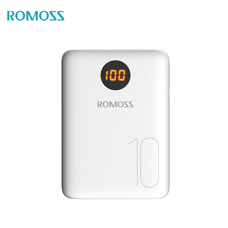 Power bank Romoss OM10 10000 mAh USB Type power bank externa bateria portable charger for phone universal 5200mah external li ion battery charger power bank w led indicator usb cable white