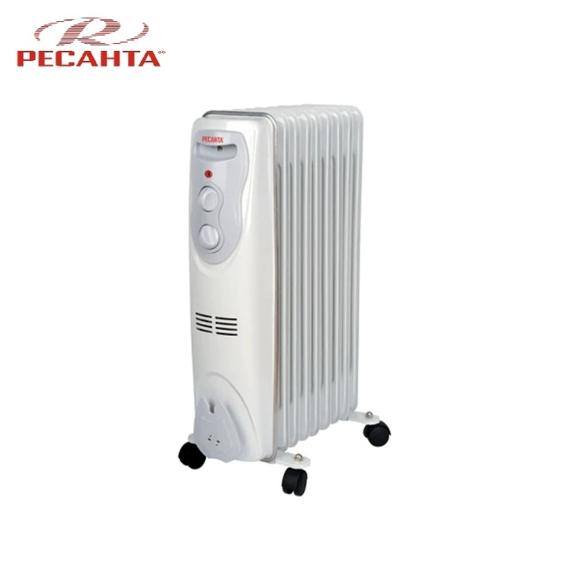 Oil radiator RESANTA OM-9N Air heating Oil heater Space heating Oil filled radiator Sectional radiator