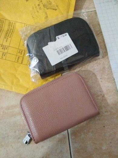 2019 Unisex kaarthouders Portemonnee Echt leer Mannelijk Zakelijke RFID-kaarten Portemonnee Hoge capaciteit Dames Creditcard Houders Portemonnees photo review