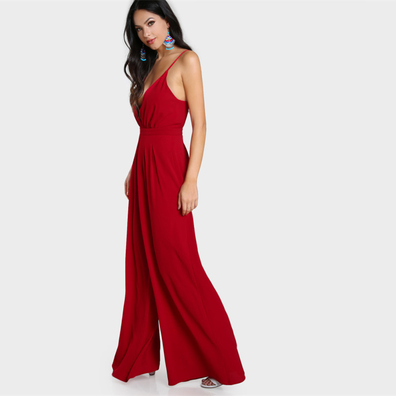 Red Cami Jumpsuit