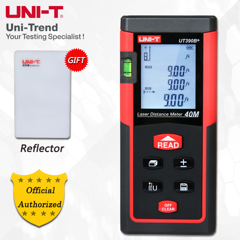 UNI-T UT390B+/UT391+Laser Distance Meter; 40M/60M Infrared Measuring Instrument/Electronic Ruler, Data Storage, Auto Power Off mastech ms6414 40m laser distance meter electronic ruler laser ruler laser line distance measuring instrument