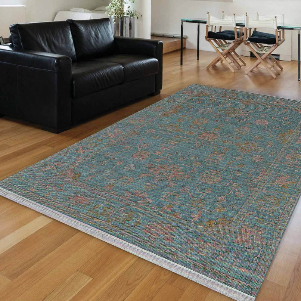 Else Green Floor On Brown Floral Flower Vintage 3d Print Anti Slip Kilim Washable Decorative Kilim Area Rug Bohemian Carpet