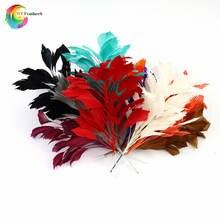 Красивое гусиное перо Свадебные корсажи длина 30 см перья цветок для головного убора свадебные декоративные аксессуары для вечеринок